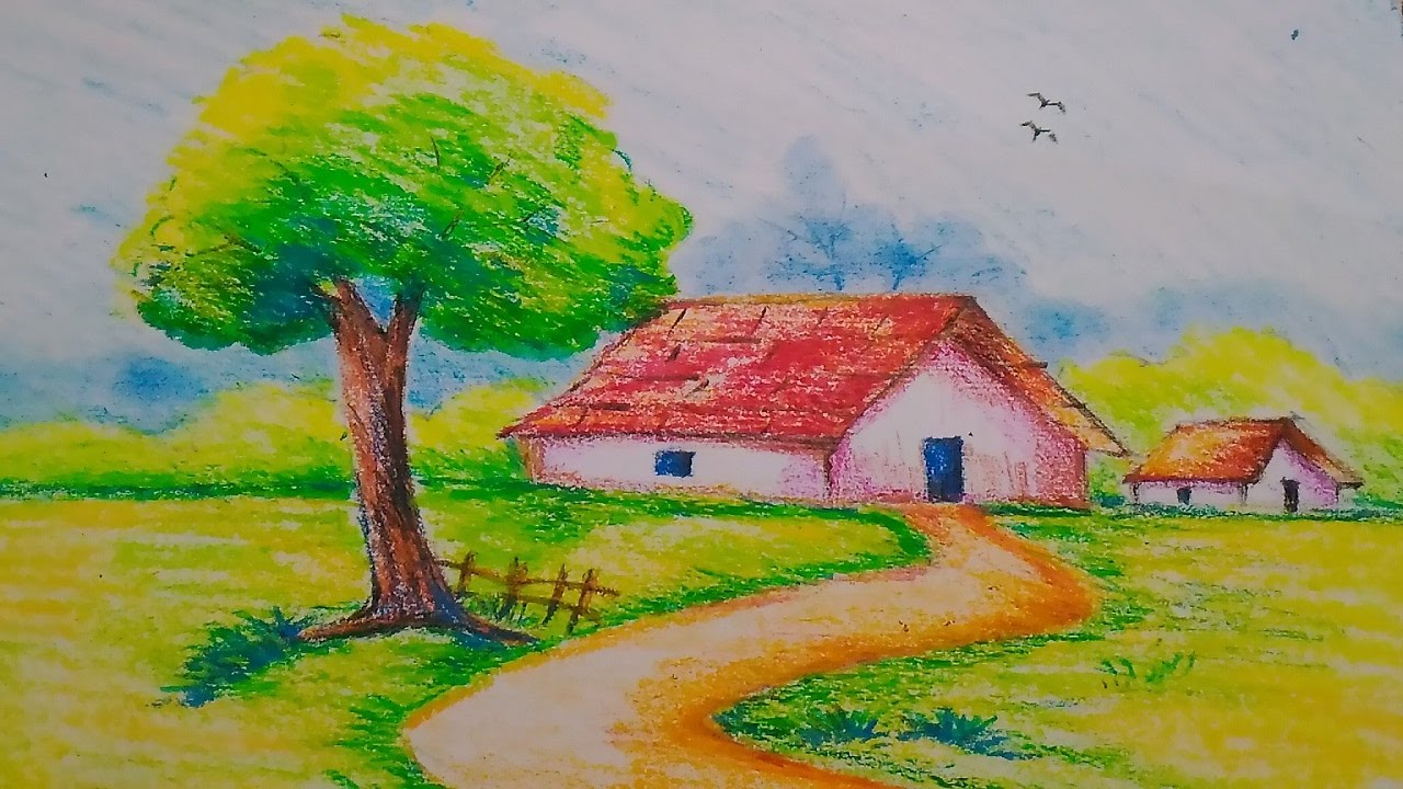 1280x720 Simple Oil Pastel Drawing Easy And Paintings