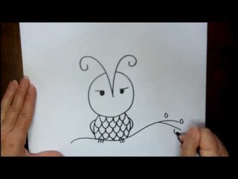 480x360 How To Draw An Owl Easy Drawing Lesson For Beginners Art