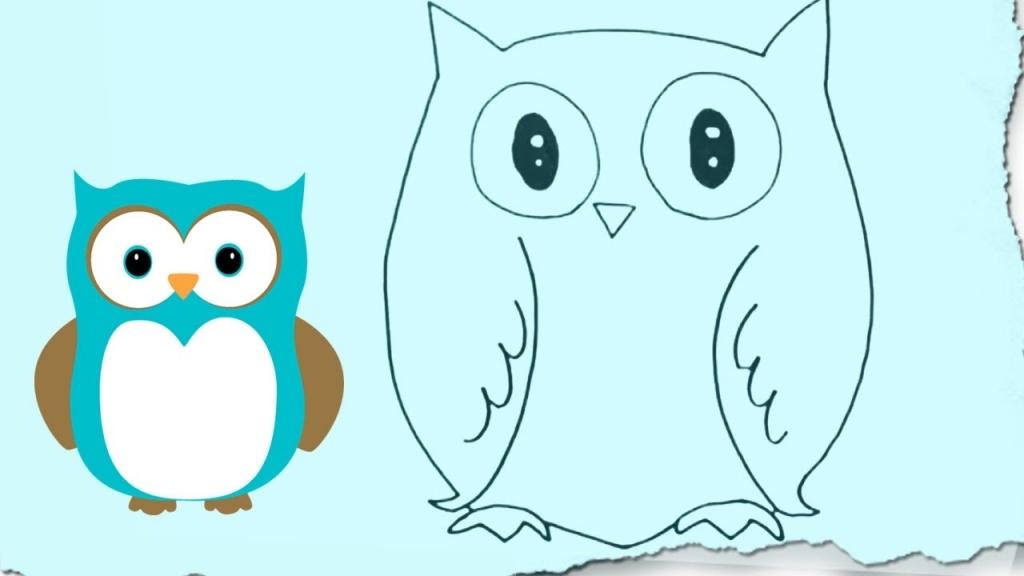 1024x576 Owl Drawings Easy Drawings On Easy Cartoon Drawings How