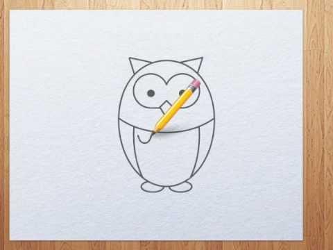 480x360 How To Draw Owl Step By Step Tutorial