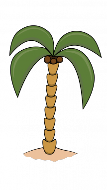 215x382 How To Draw A Palm, Palm Tree, Plants, Easy Step By Step Drawing