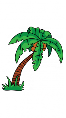 215x382 How To Draw A Palm Tree, Easy Step By Step Drawing Tutorial