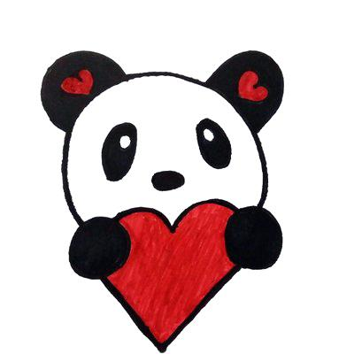 easy panda drawing at getdrawings com free for personal use easy