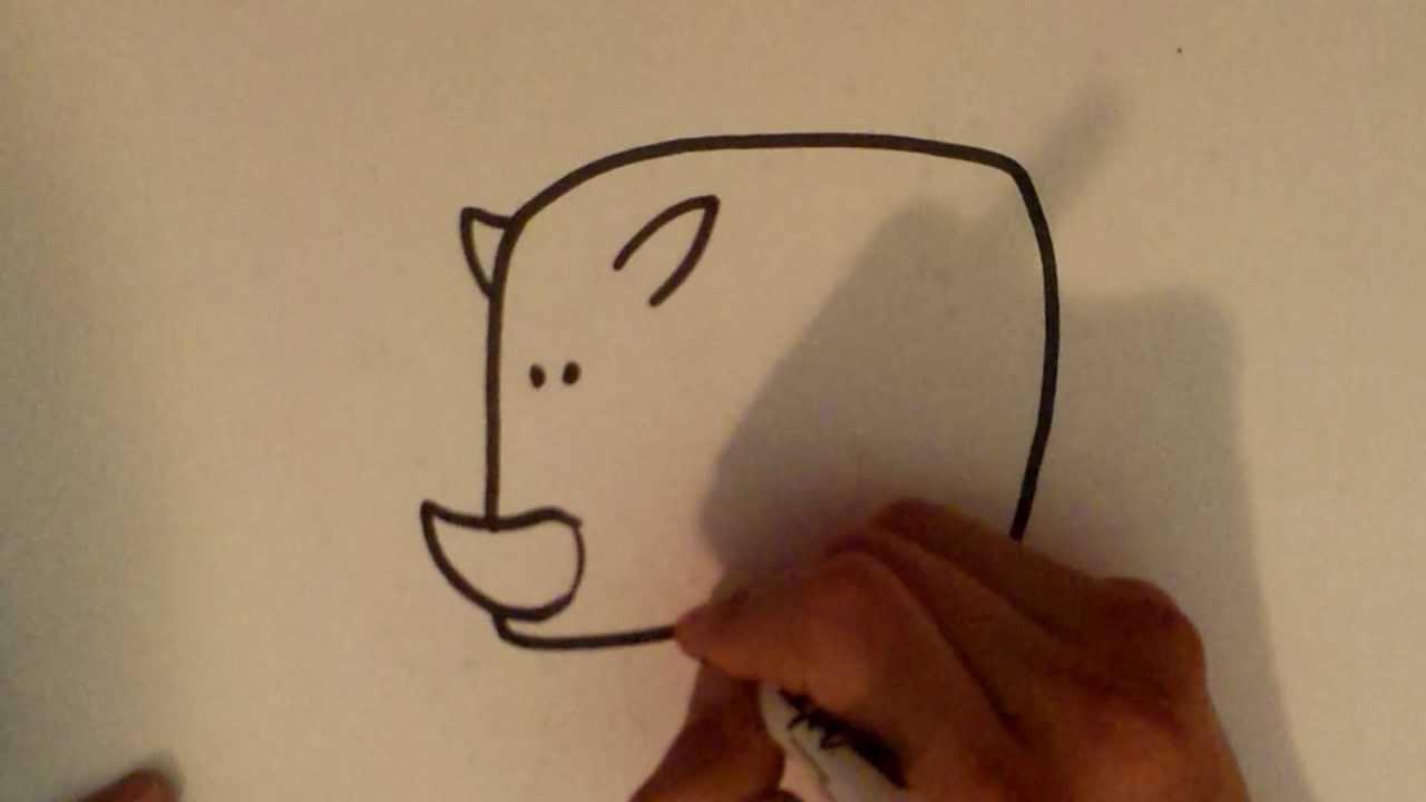 1280x720 How To Draw A Rhino