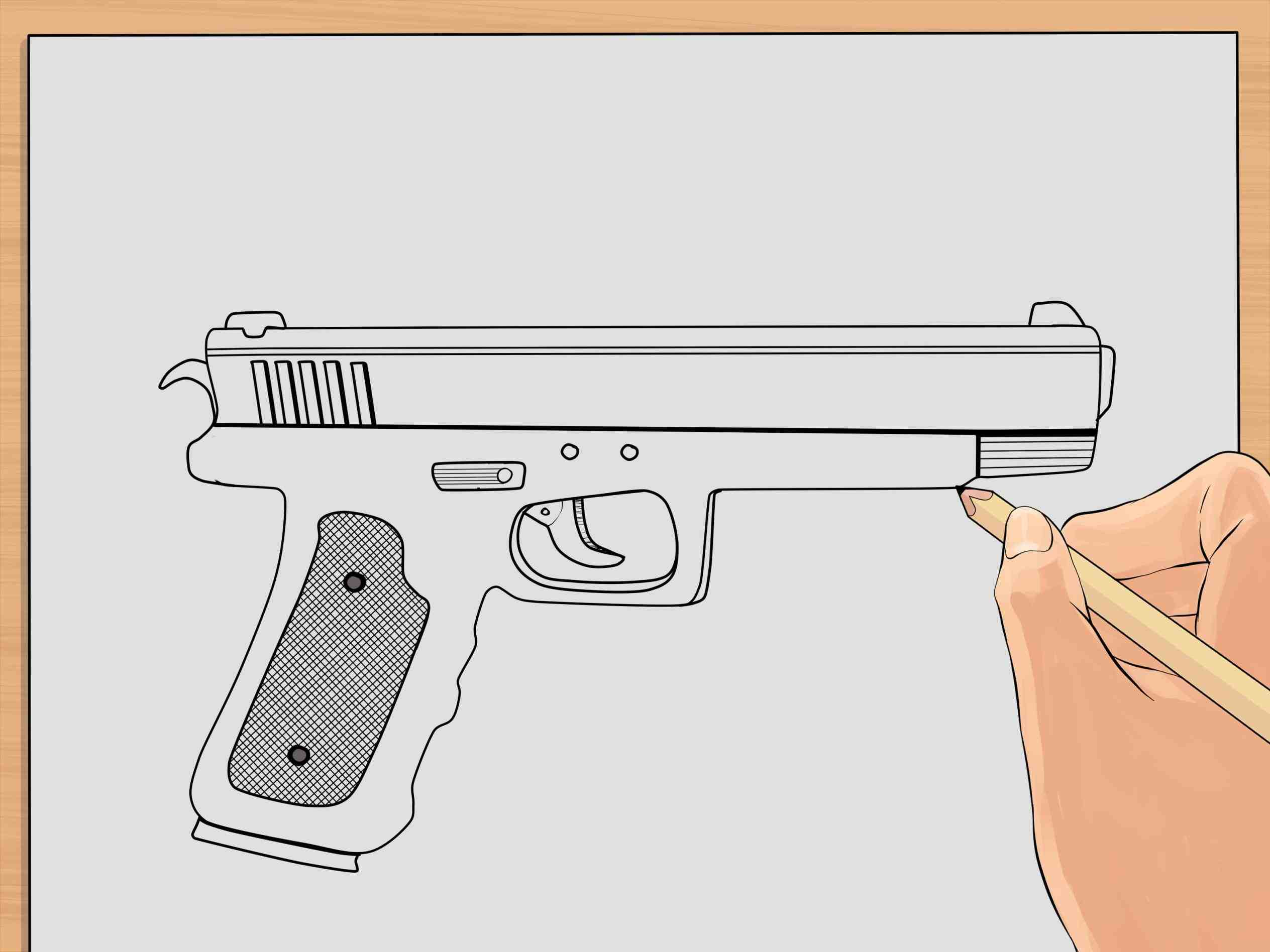 2528x1896 Cool Gun Drawings