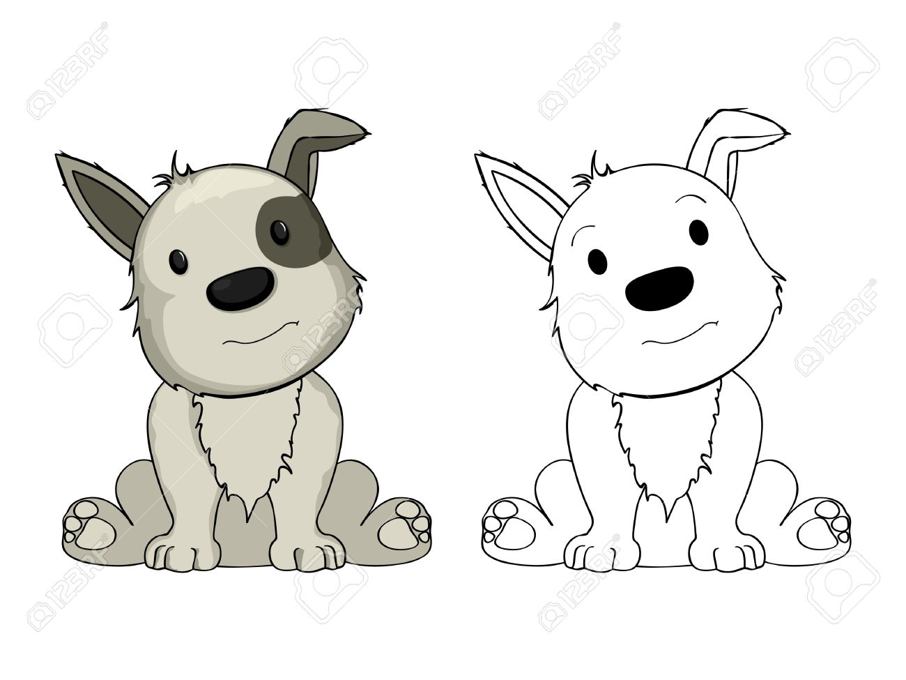 1300x975 Puppy Cartoon Drawing Cartoon Puppy Drawing Easy Puppy Drawings