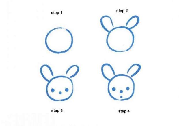 620x438 How To Draw Rabbit