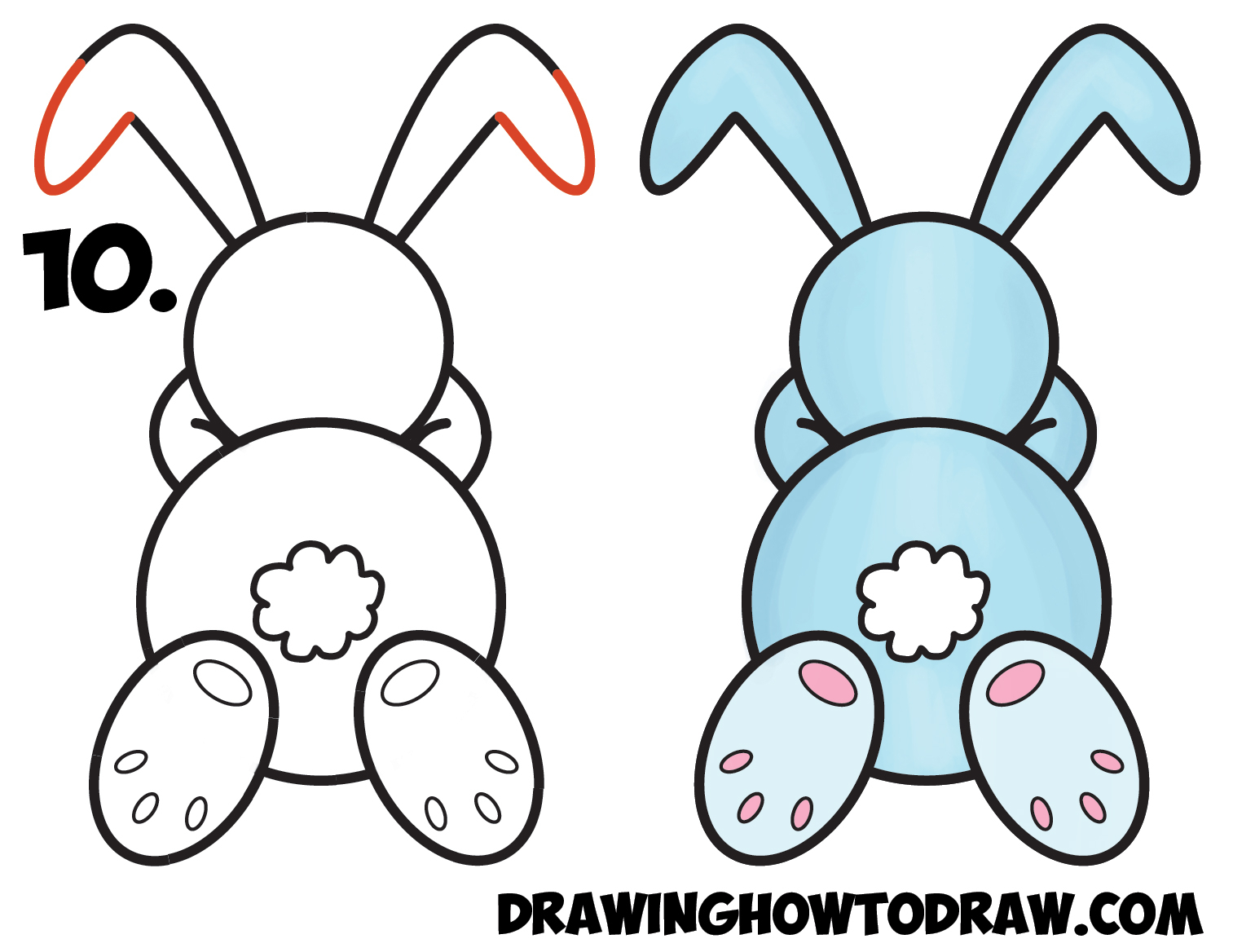 1513x1168 Rabbit Drawing Step By Step How To Draw A Cute Cartoon Sleeping
