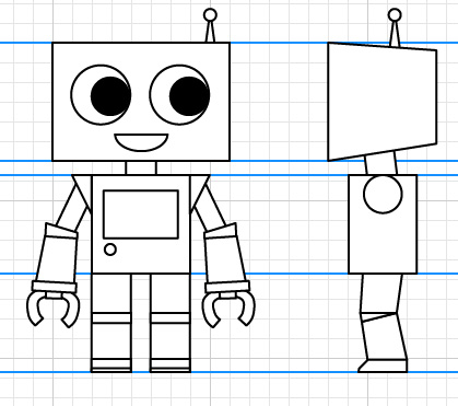 419x371 how to create a cute robot game sprite using ssr in adobe