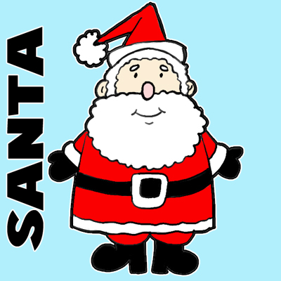 400x400 How To Draw An Easy To Draw Santa Clause For Christmas