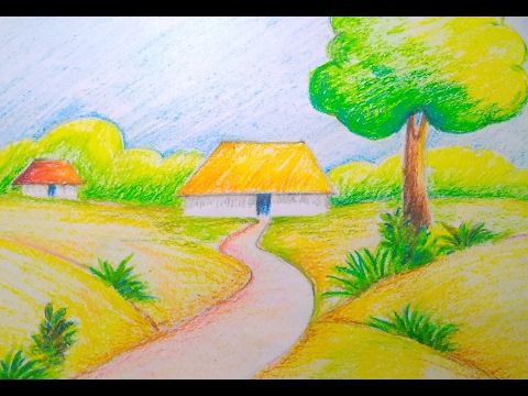 480x360 Beautiful Scenery Drawing Easy Tutorial For Kids Art