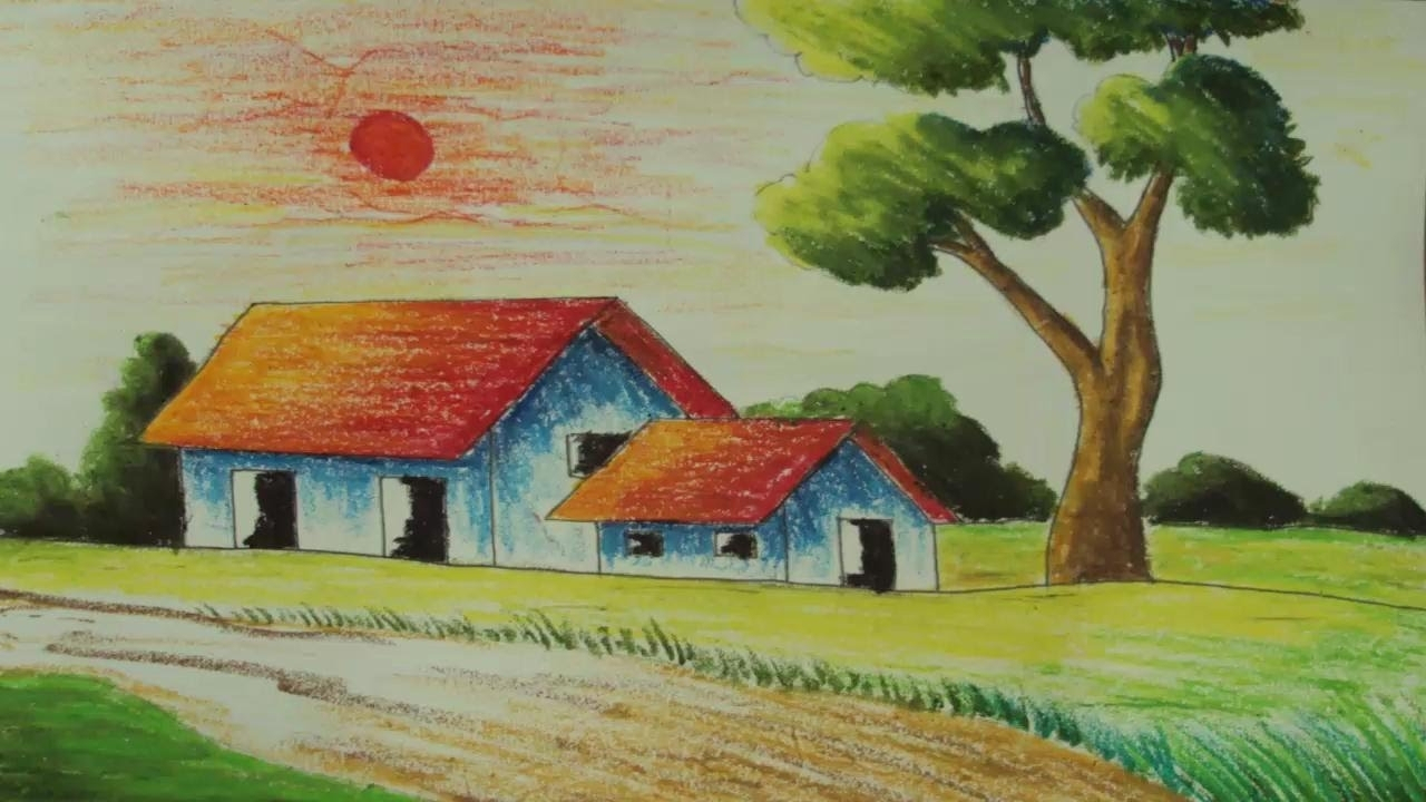 This is an image of Revered Easy Scenery Drawing