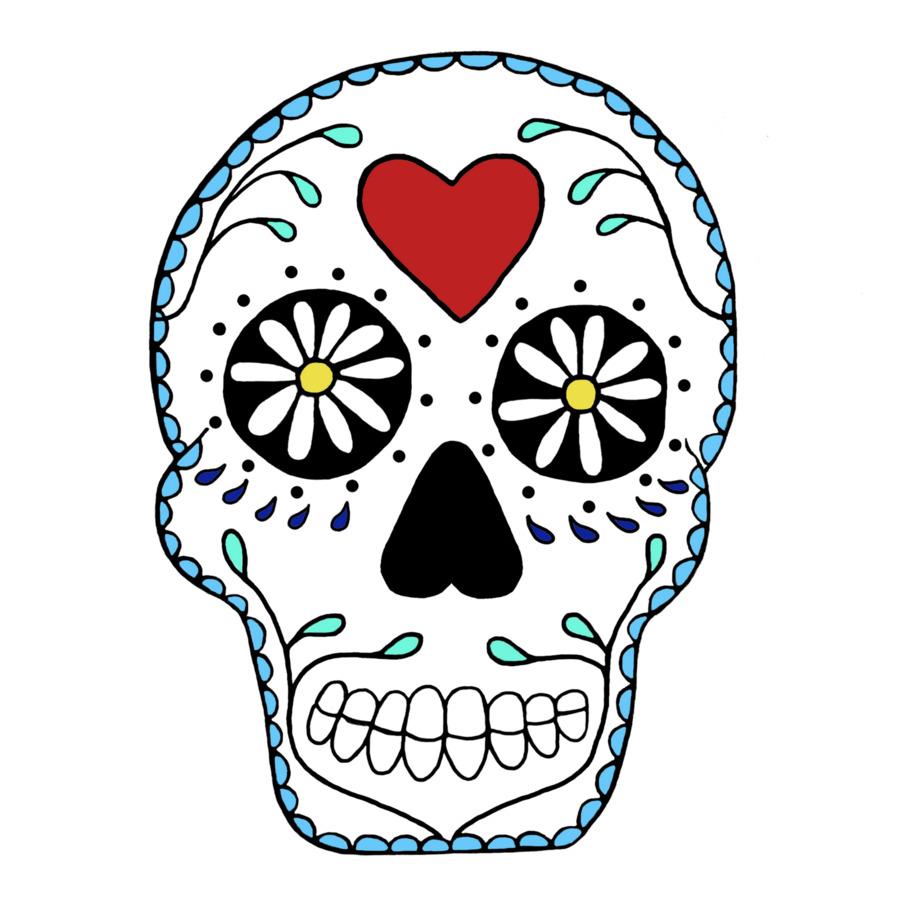 900x900 Calavera Skull Drawing Clip Art