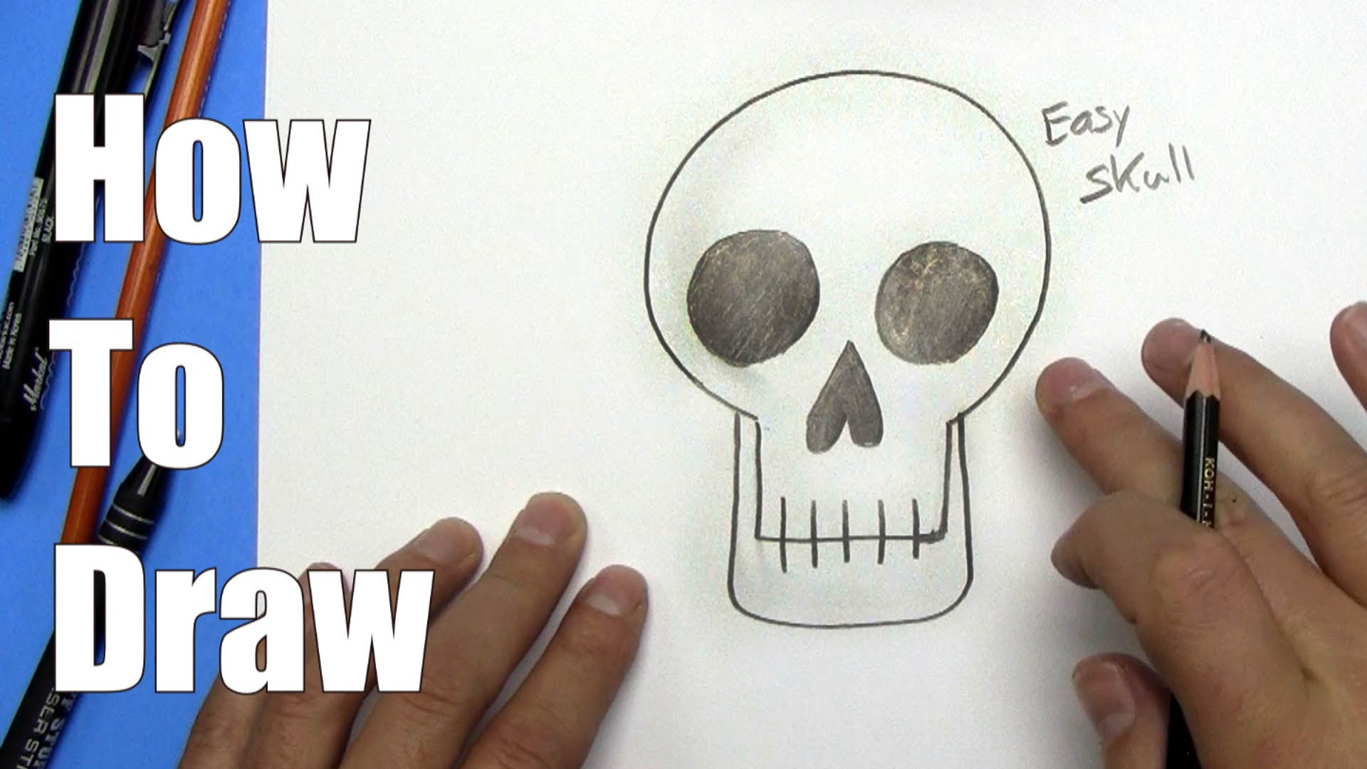 1920x1080 How To Draw An Easy Skull