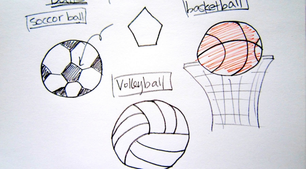 1024x568 Easy Drawing Tutorials How To Draw Sport Balls Basketball Soccer
