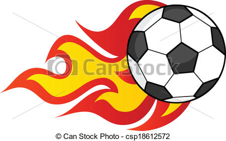 450x282 Flaming Soccer Ball Illustration Isolated On White Vectors