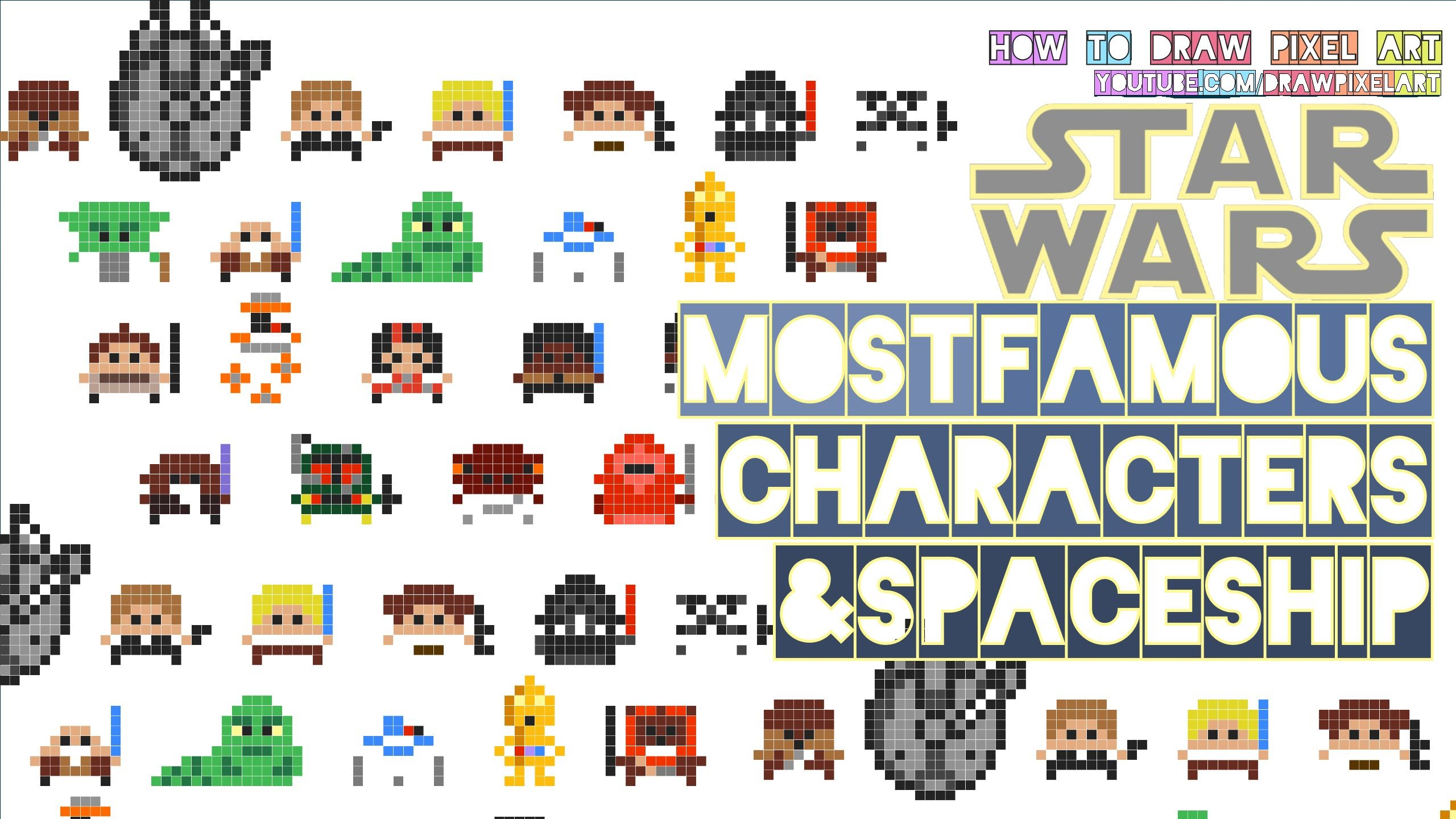 2560x1440 How To Draw Star Wars All Episodes Famous Characters Movie Easy