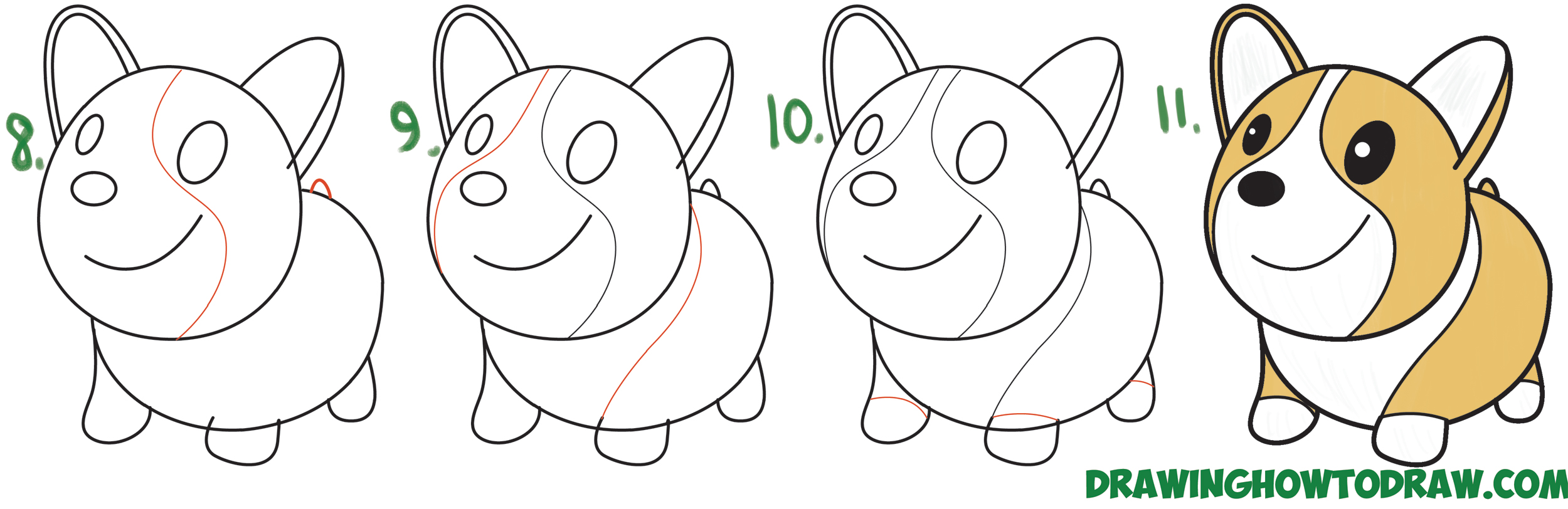 Easy Step By Step Dog Drawing At Getdrawings Com Free For Personal