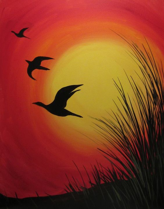 564x719 Image Result For Chalk Drawing Geese Flying Paint Class