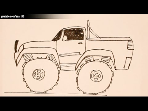 480x360 How To Draw A Monster Truck