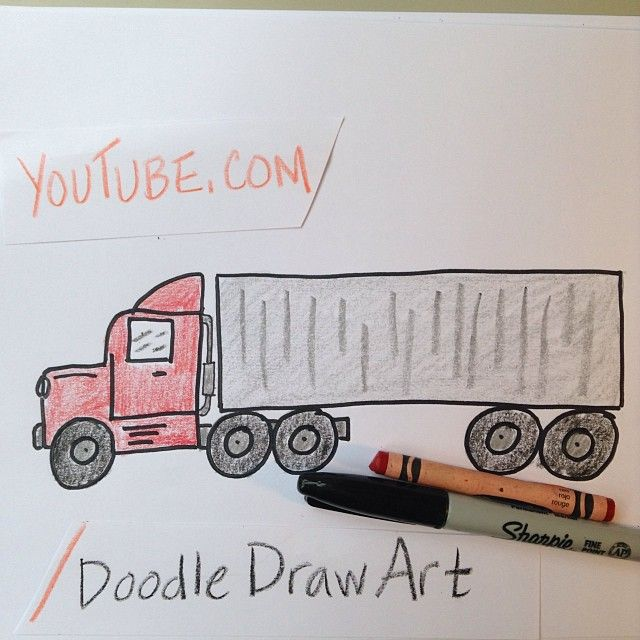 640x640 Learn To Draw A Transport Truck 18 Wheeler. Watch This Simple