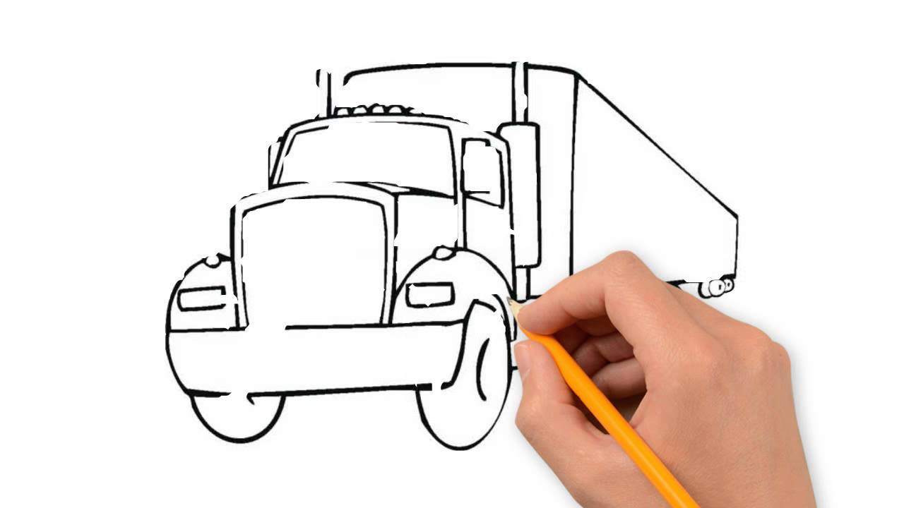 1280x720 Trucks Transport The Pencil To Draw Step By Step