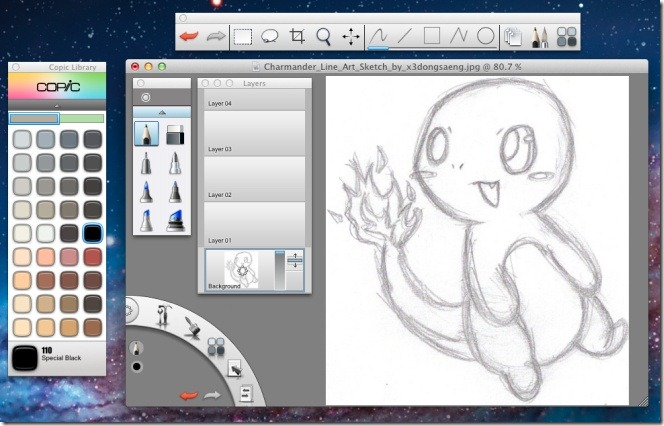 664x426 Sketchbook Image Editor With Layer, Lasso, Crop Tools Amp Brushes [Mac]