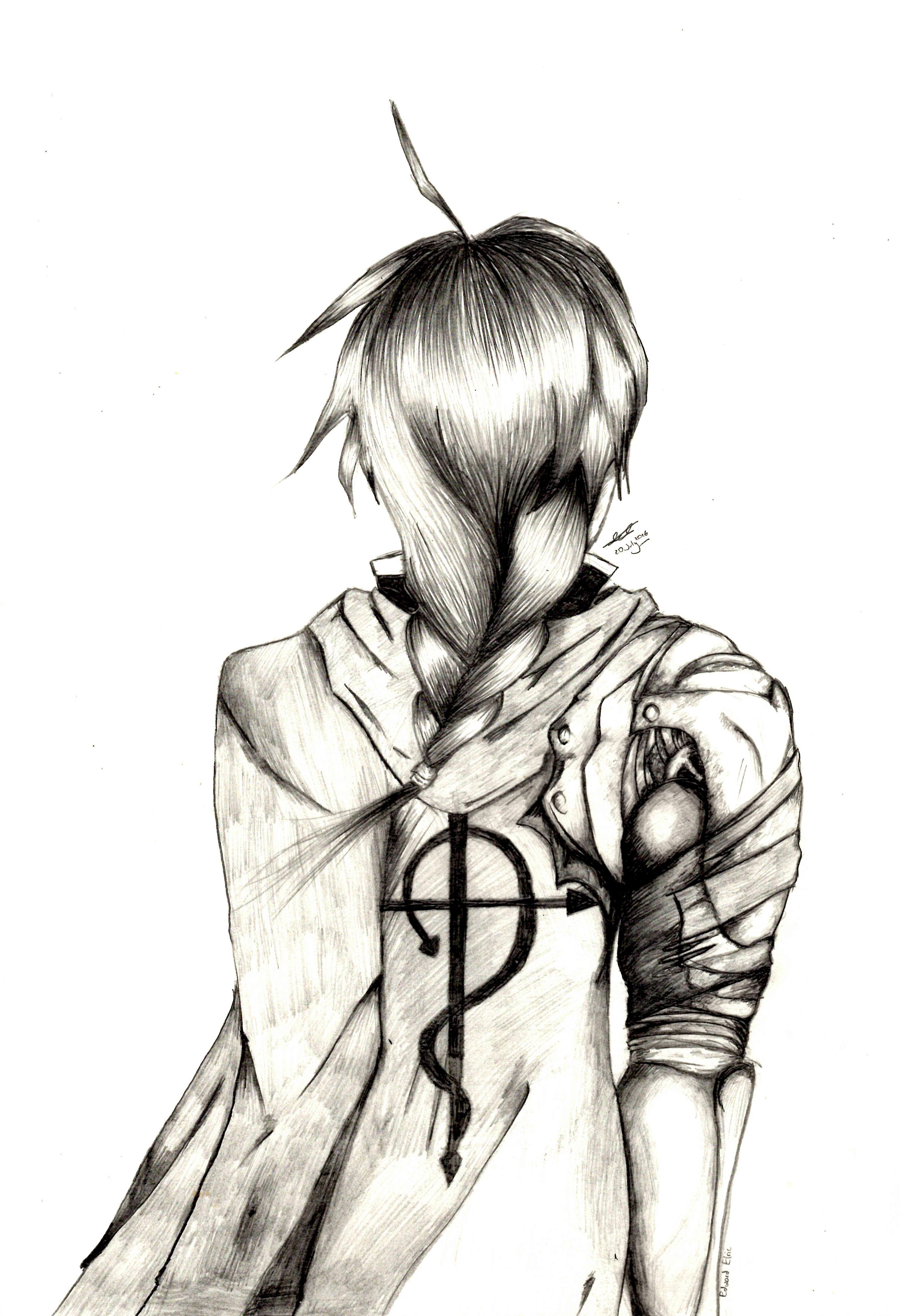 2986x4368 Edward Elric (Fullmetal Alchemist Brotherhood) (Pencil Drawing By