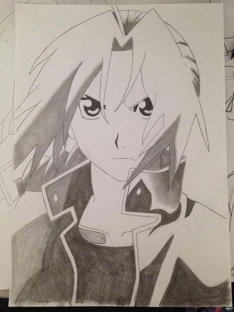 768x1024 Edward Elric ) Completely Free Hand. First Time Post. Haven'T