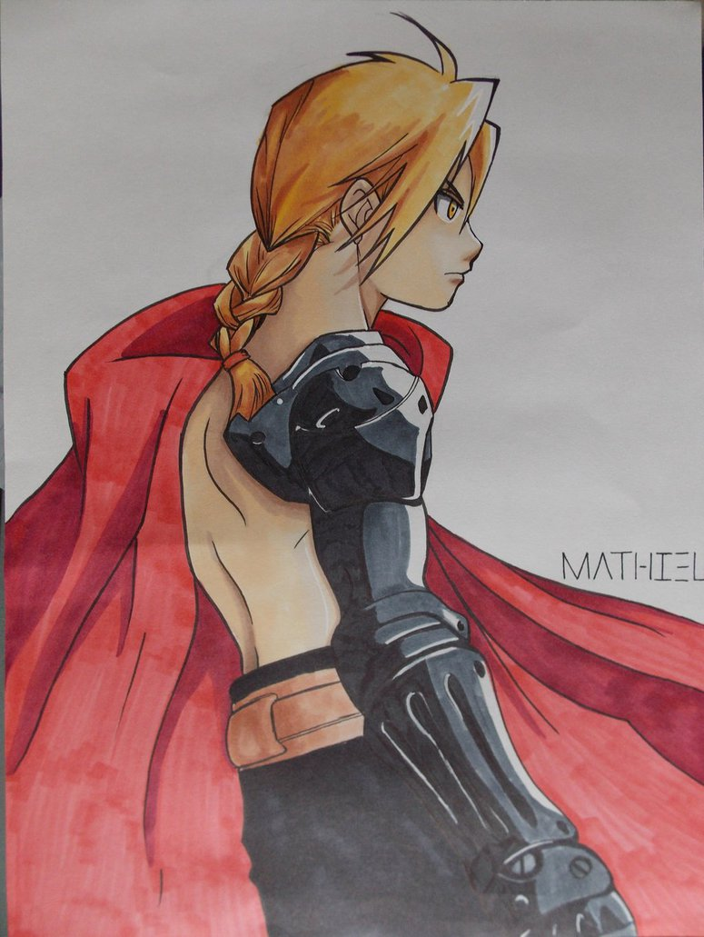 775x1031 Edward Elric Drawing By Abrutimonstre