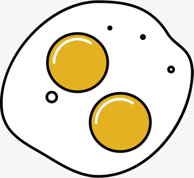650x597 Cartoon Fried Egg Vector, Fried Eggs, Cartoon Hand Drawing