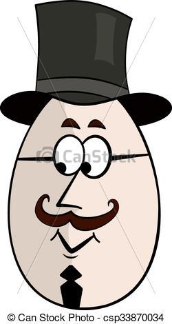 250x470 Englishman Funny Cartoon Egg Face Character Vector Vectors