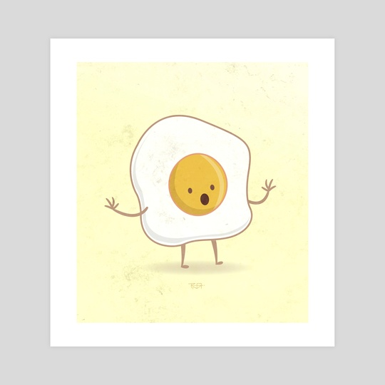 540x540 Fried Egg Illustration, An Art Print By Bernardo Ramonfaur