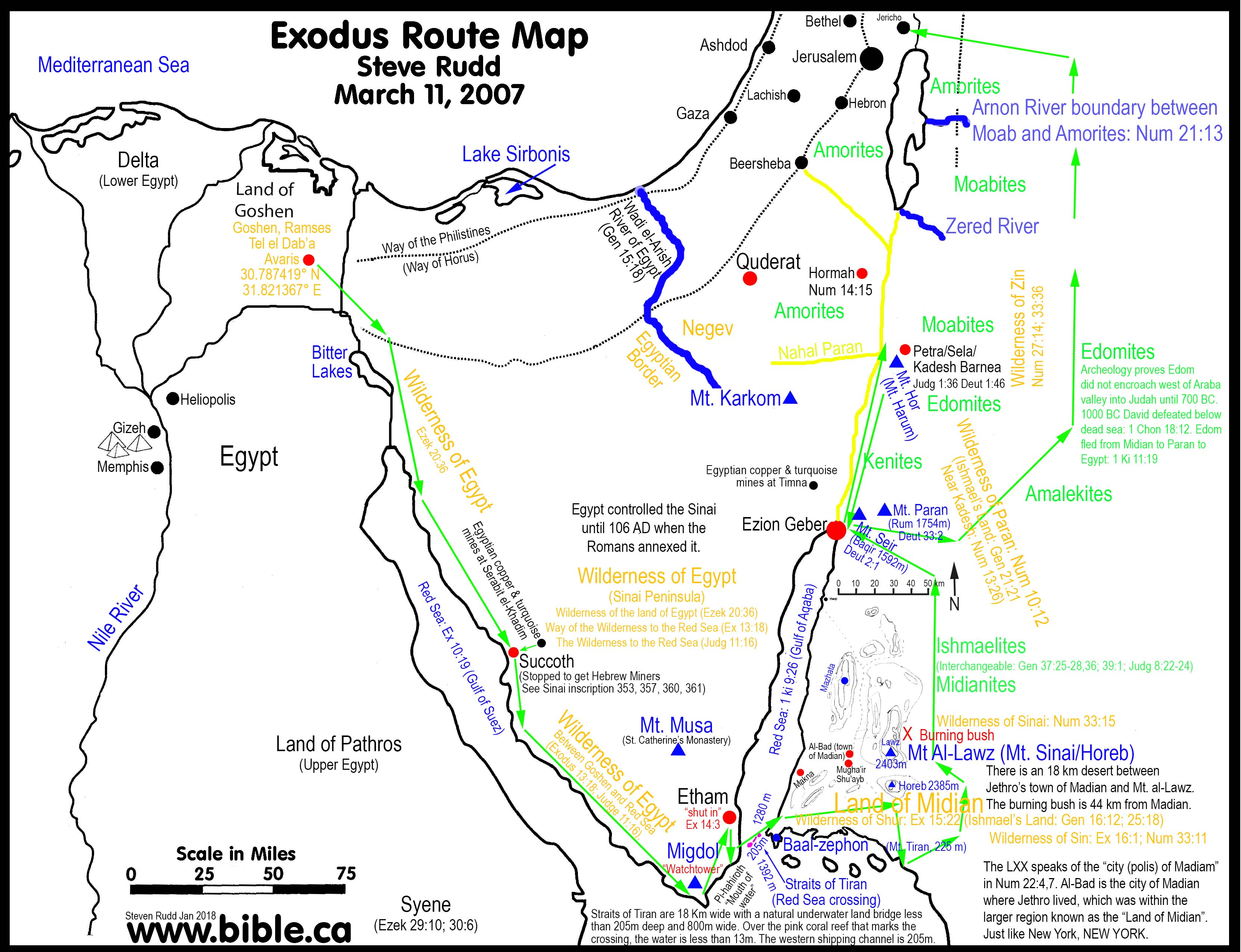 3324x2550 Bible Maps The Exodus From Egypt 1440 Bc