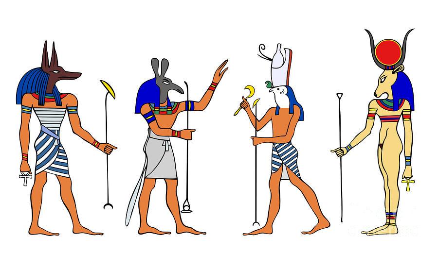 900x521 Egyptian Gods And Goddess Goddesses Draw
