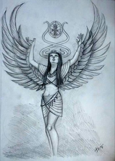 400x562 Isis, Egyptian Goddess Of Magic By