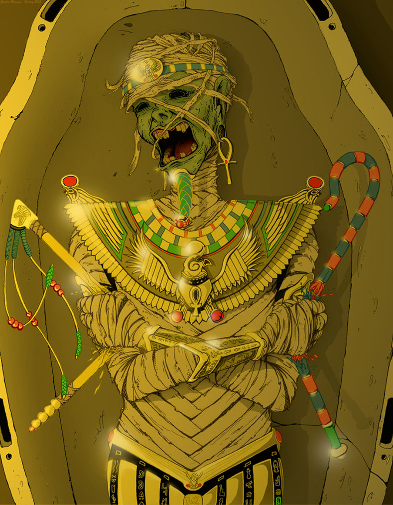 789x1012 Egyptian Mummy Zombie Thingee By Harley 1979