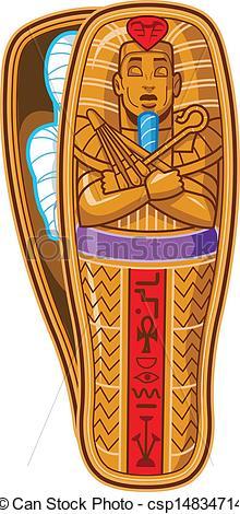 220x470 Mummy Sarcophagus. Ancient Egyptian Pharaoh's Sarcophagus
