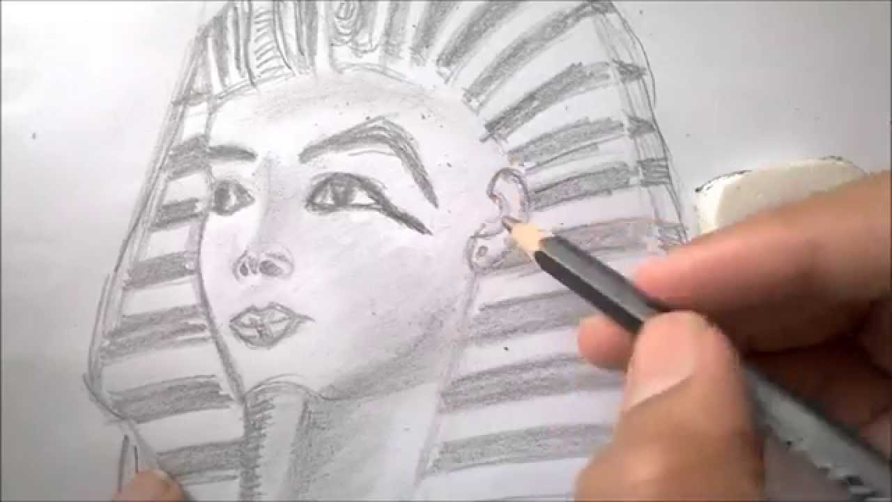 1280x720 How To Draw An Egyptian Pharaoh (Tutankhamun) Kg Draws