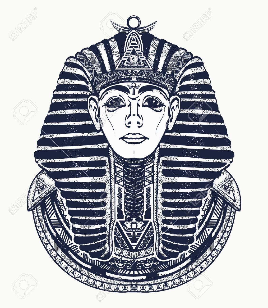 1130x1300 Pharaoh Tattoo Art, Egypt Pharaoh Graphic, T Shirt Design. Great