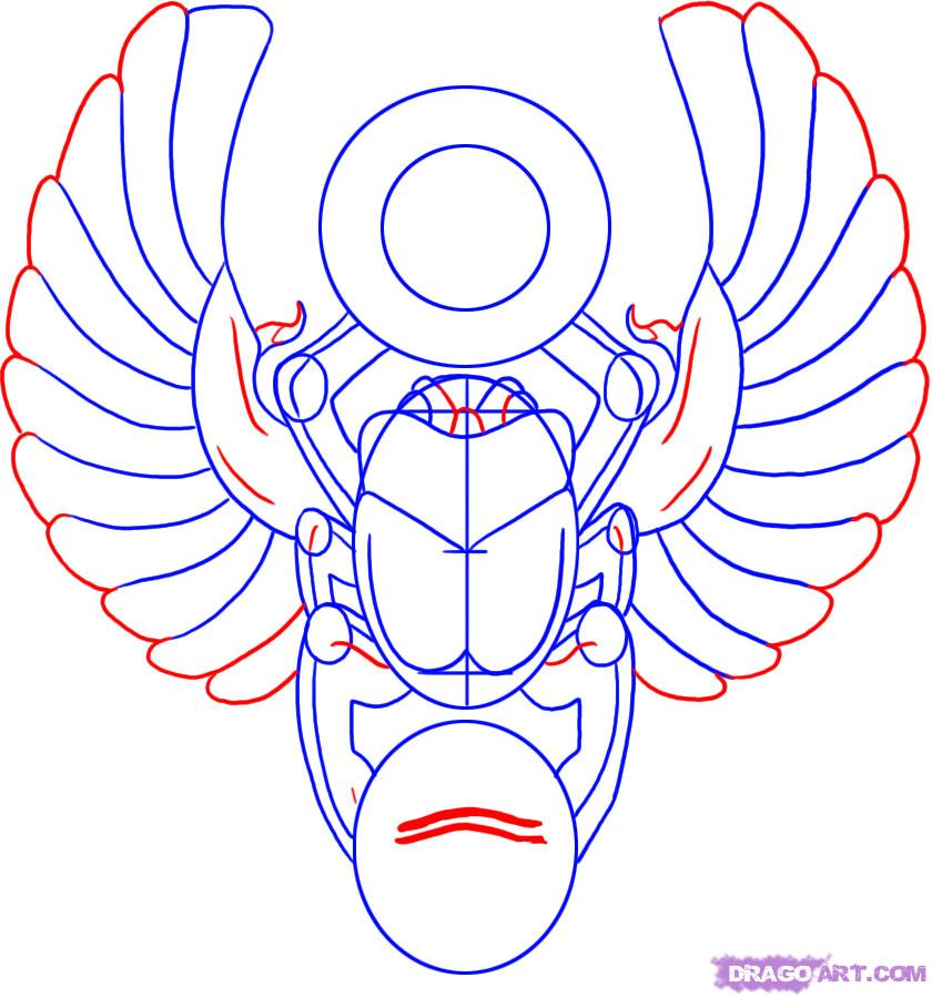 Egyptian Scarab Beetle Drawing At Getdrawings Free For