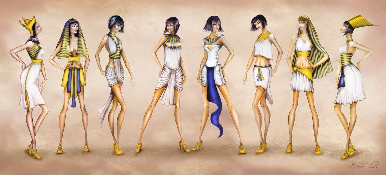 1300x591 Costume History Fashion Collection Ancient Egypt By Basaktinli