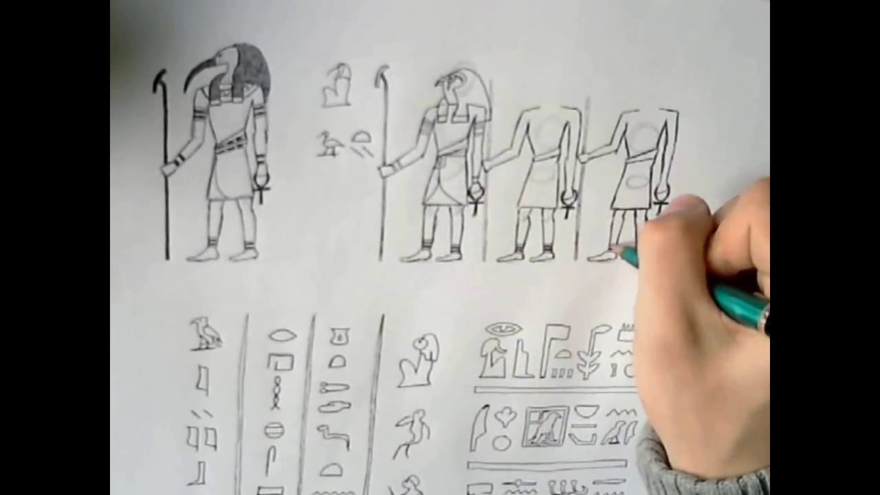 1280x720 How To Draw Hieroglyphs Ancient Egyptian Style