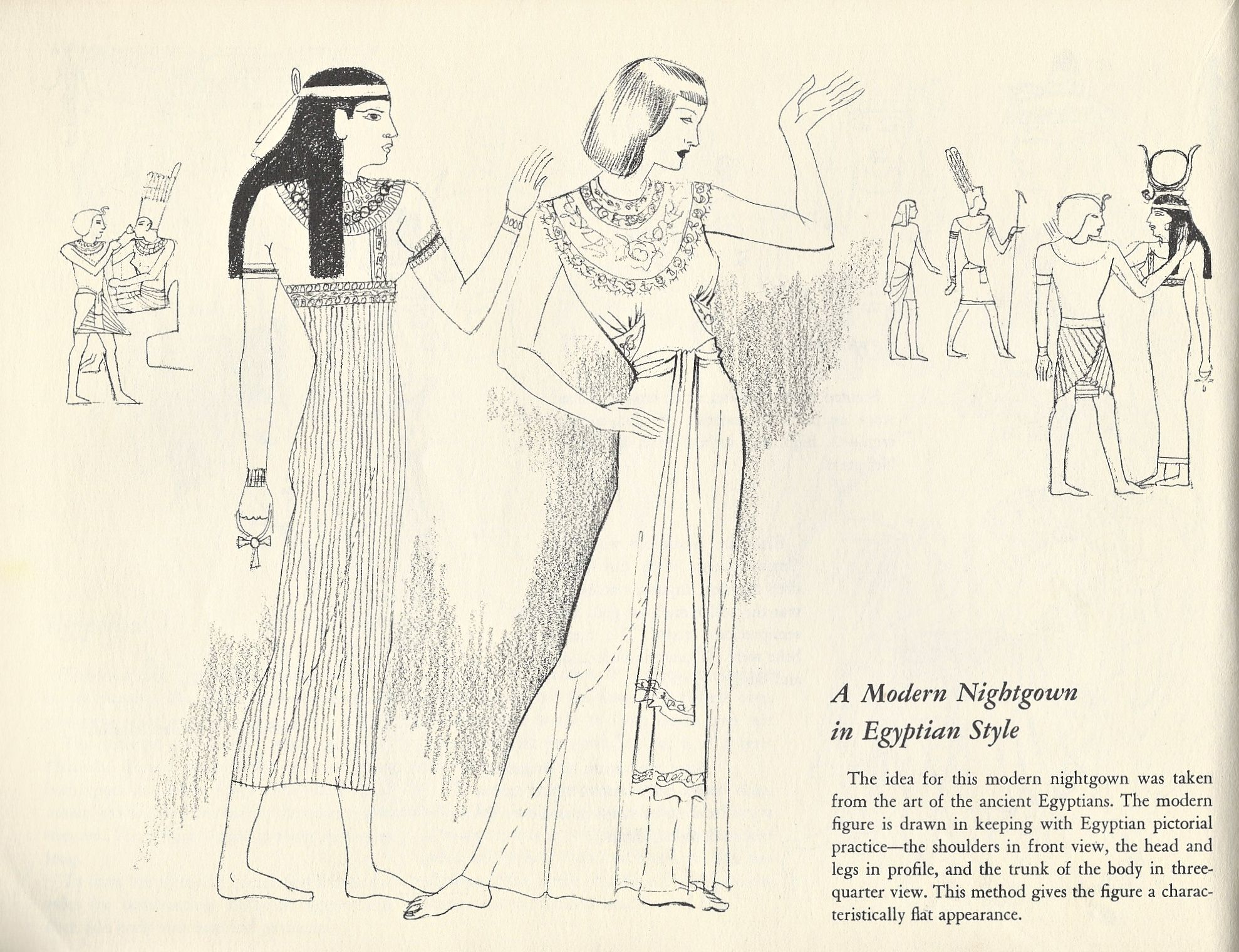 1978x1520 Illustration Of Ancient Egyptian Clothing From Costume Drawing