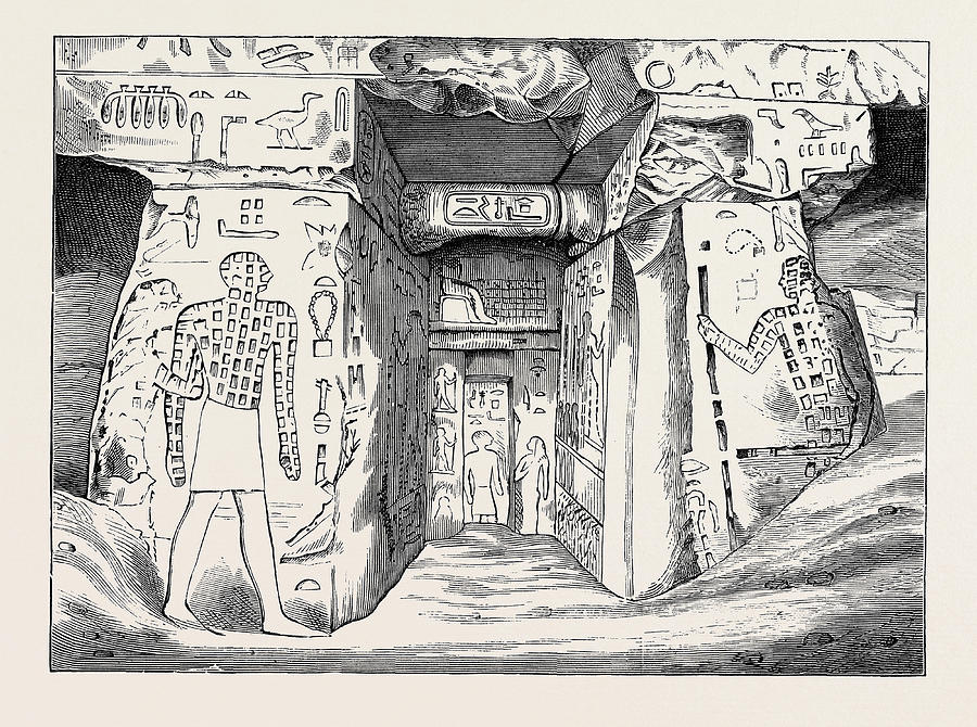 900x670 Tomb Of Nofre Ma An Egyptian Of The Third Dynasty Drawing By