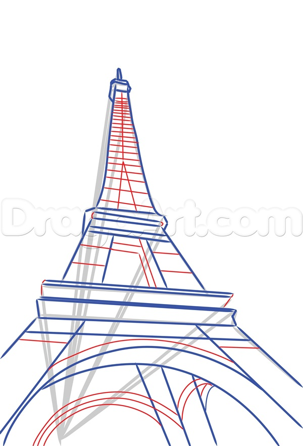600x883 42 So Beautiful Eiffel Tower Drawing And Sketches To Try