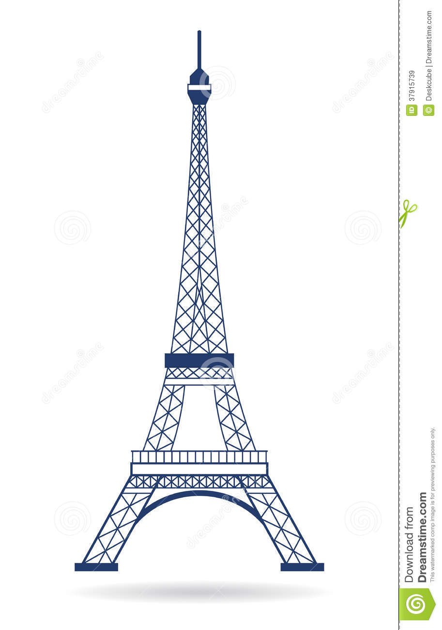 Eiffel Tower 2d Drawing at GetDrawings.com | Free for personal use ...