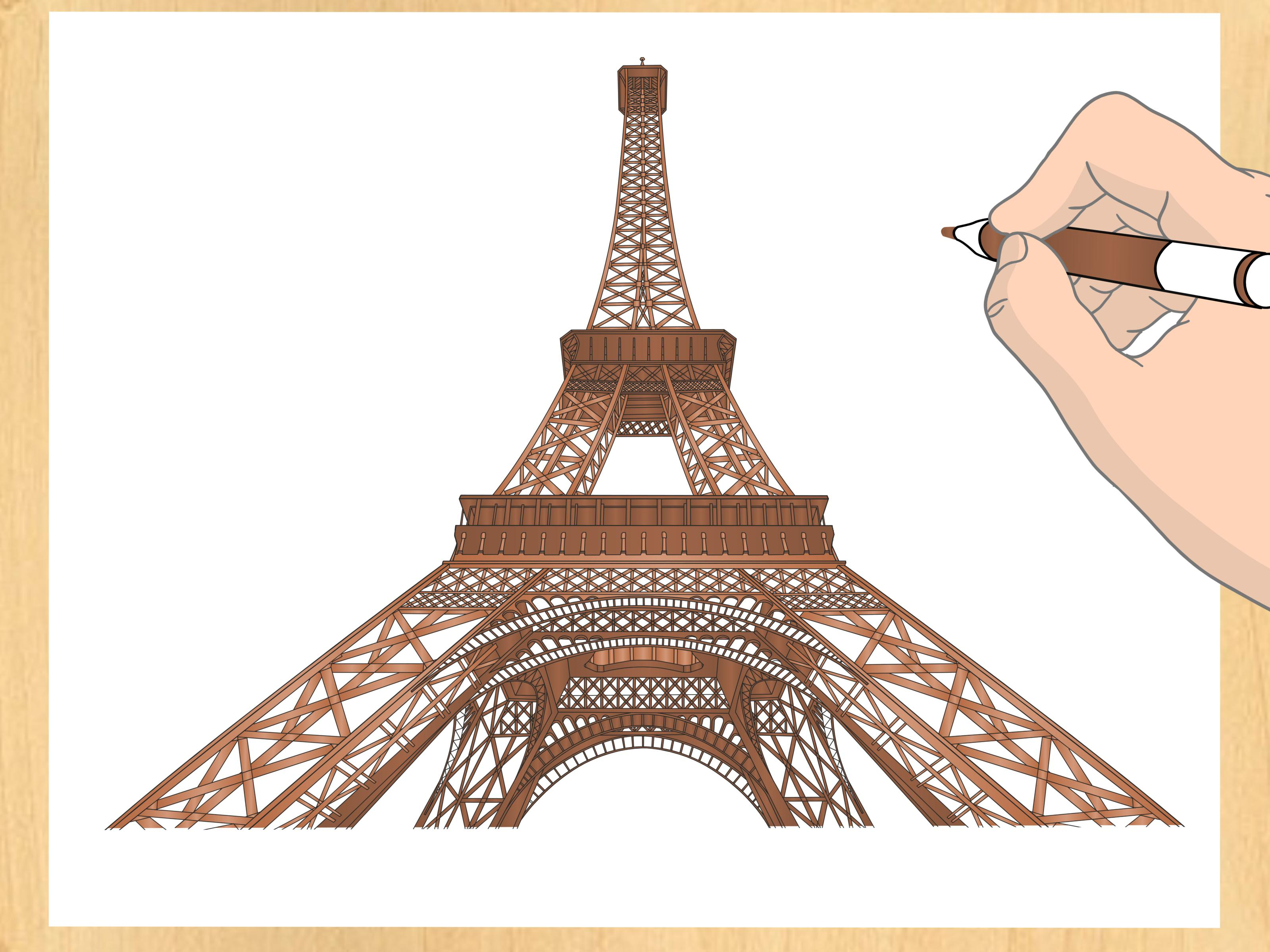 3200x2400 Eiffel Tower 2d Drawing How To Draw The Eiffel Tower 14 Steps