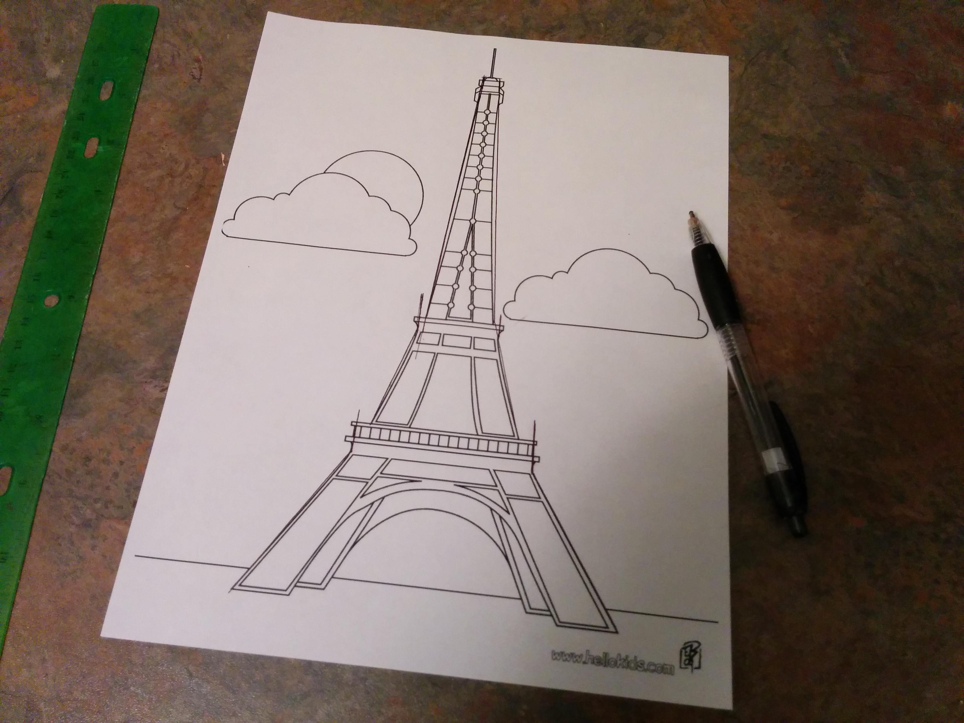 3264x2448 3d Fondant Eiffel Tower Grated Nutmeg