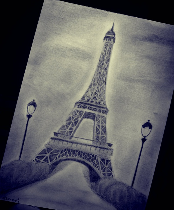 600x726 42 So Beautiful Eiffel Tower Drawing And Sketches To Try Eiffel